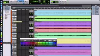 Changing Track Color in Pro Tools