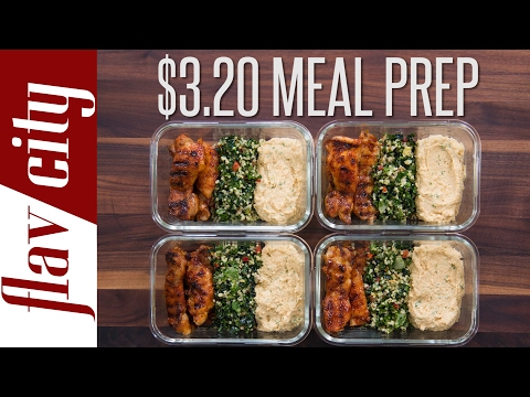 Video Meal Prep Budget - Low Cost Recipes
