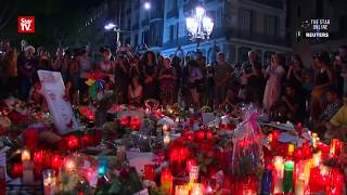 Vigil held for Barcelona attack victims