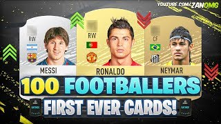100 Footballers FIRST AND PRESENT FUT Cards! 😱 | FIFA 09 - FIFA 20