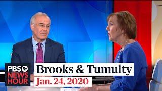 David Brooks and Karen Tumulty on Senate impeachment trial and Jim Lehrer