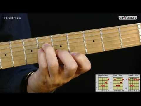 Gitarrenakkorde: C#moll / C#m chord