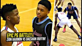 Zion Harmon vs 5'8 Daeshun Ruffin EPIC Point Guard BATTLE!! EXCITING PG's GO AT IT!