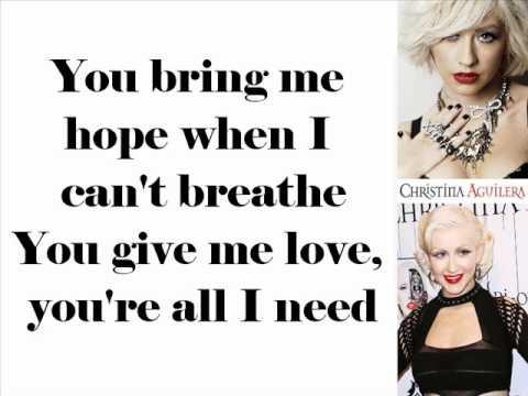 Christina Aguilera - All I Need (Lyrics On Screen)