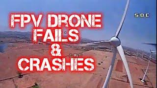 FPV Drone Crash and Fails | Краши и падения квадрокоптеров #1