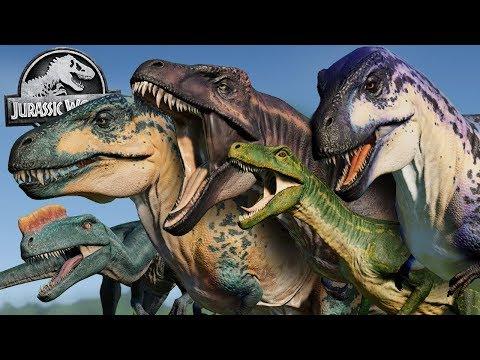 Jurassic World Evolution -  ACROCANTHOSAURUS, HERRERASAURUS, PROCERATOSAURUS ANIMATIONS AND SKINS