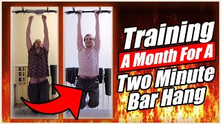 I trained for one month to achieve a two minute bar