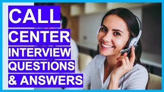 CALL CENTER Interview Questions & Answers! How to PASS a Call Centre Interview!