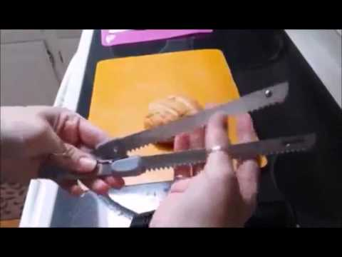 NutriChef PKELKN8 Electric Cutting & Carving Knife Slicer is an electric knife with two options for