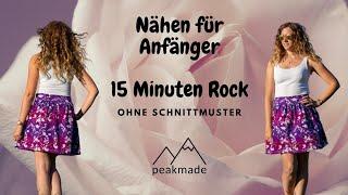 Nähen für Anfänger - 15 Minuten Rock ohne Schnittmuster nähen