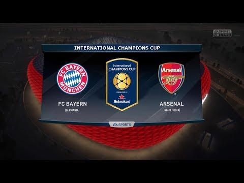 BAYERN MUNICH VS ARSENAL - INTERNATIONAL CHAMPIONS CUP 2017 | 19/7/2017 |FIFA 17 Predicts - Pirelli7