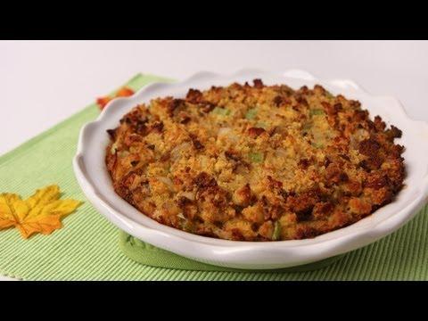 Corn Bread Stuffing Recipe – Laura Vitale – Laura in the Kitchen Episode 483