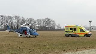 Helikopterska nujna medicinska pomoč prvič v Ljutomeru