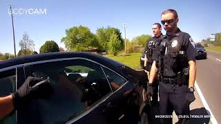 Tahlequah Fire & Police break window to remove sovereign citizen for traveling improperly.