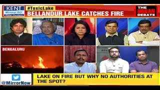 Toxic Bellandur Lake Burns Again