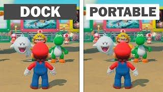 Super Mario Party | Dock vs Portable | Graphics Comparison & Framerate