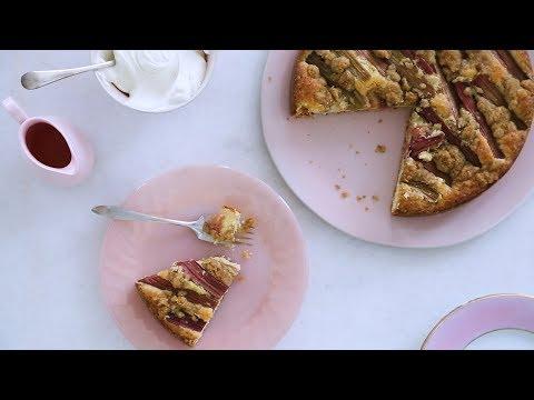 Rhubarb Crumb Cake- Sweet Talk with Lindsay Strand