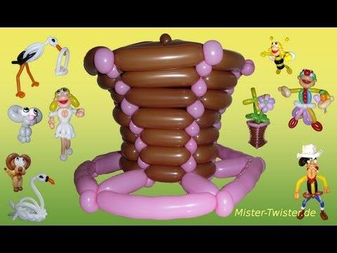 Balloon top hat, Ballon Zylinder Hut, Modellierballon Ballonfiguren