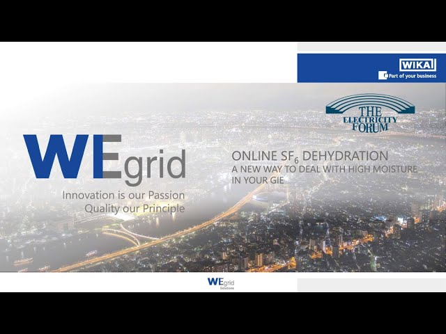 Online SF6 Dehydration: A New Way to Deal With High Moisture in Your GIS at Electricity Forum