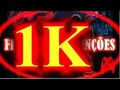 1K DE INSCRITOS , meu agradecimento a todos  vocês : OBRIGADO !!!