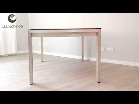Esstisch Metall Holz ausziehbar - Amalfi