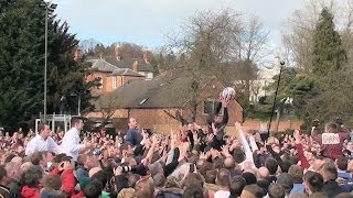 preview picture of video 'Ashbourne Shrovetide Football, Tues 4th Mar 2014. Pt 2 of 7'