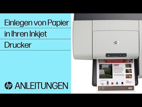 Papir in Ihren Tintenstrahldrucker einladen