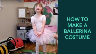 How To Make A Ballerina Costume - Easy DIY Halloween | Care.com