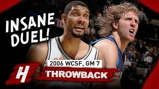 Dirk Nowitzki vs Tim Duncan INSANE Game 7 Duel Highlights 2006 NBA Playoffs - MUST SEE!