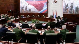 Заседание Коллегии Минобороны России под руководством Сергея Шойгу 21.04.2017