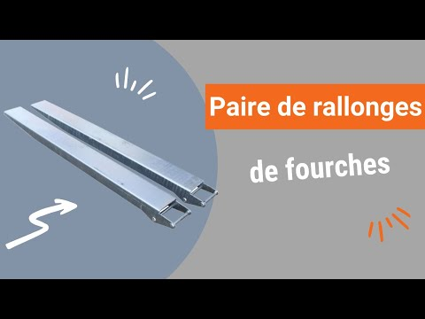 Video Youtube Paire de rallonges de fourches