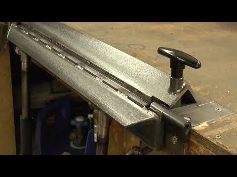 Making an Inset Bench Metal Folder/Brake
