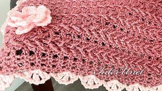 Baby Blanket Simple Crochet Pattern