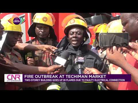 Fire guts two-storey building at Techiman market | Citi Newsroom
