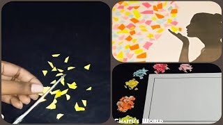 Art And Craft With Colour Paper || Paper Crafts || Colour Paper Craft || Art And Craft   ✔