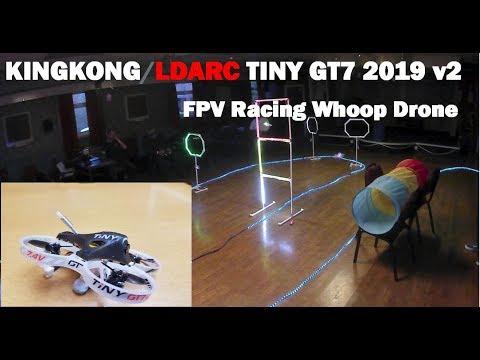 Tiny GT7 2019 v2 review - Indoor, Racetrack, FPV, Vtx & Camera test