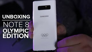 Samsung Galaxy Note8 Olympic Edition Unboxing