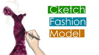 Fashion Illustration | How We Sketch Fashion Dress For Our Customers