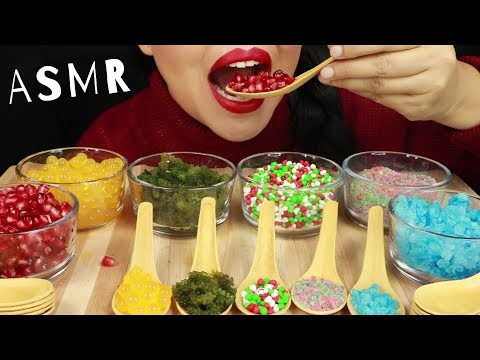 EATING EDIBLE SPOONS WITH POPULAR POPPING & CRUNCHY FOOD ~ ASMR (No Talking)