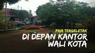 Viral Video Pria Tergeletak di Depan Kantor Wali Kota Jakarta Timur, Suhu Tubuhnya Capai 41 Derajat