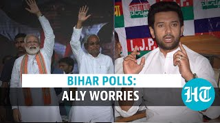 Fresh ally trouble for BJP? LJP leader says Chirag Paswan CM face | Bihar polls