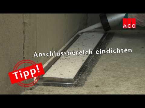 Bodengleiche Duschen: Einbau einer ACO ShowerDrain Duschrinne
