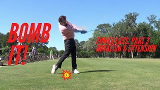 Golf Swing - Power Loss: Part Three   Rotation & Extension