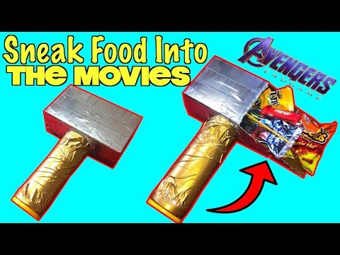 5 Smart Ways To Sneak Food Into The Movies Using Avengers Endgame Props | Nextraker