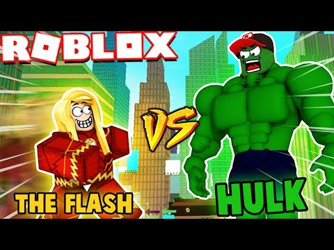ROBLOX - HULK VS THE FLASH | VITO VS BELLA (Roblox Superhero Tycoon)