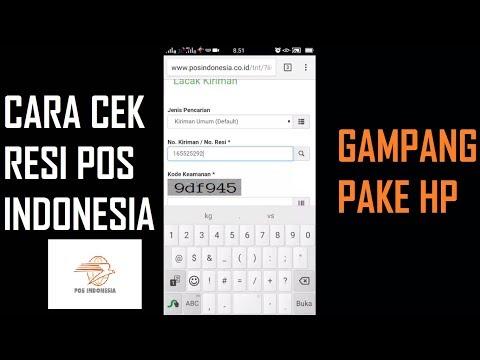 CARA CEK RESI POS INDONESIA MENGGUNAKAN HP ANDROID IPHONE