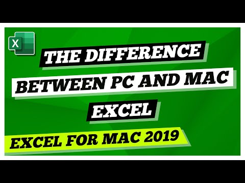Excel For Mac 2019 Tutorial :The Difference between PC and Mac Excel Tutorial