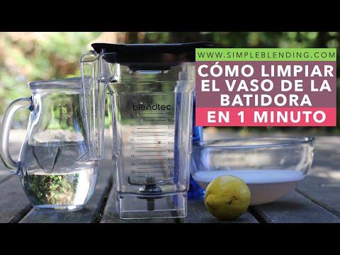 Cómo limpiar la batidora de vaso en 1 minuto   Cómo limpiar la batidora fácilmente