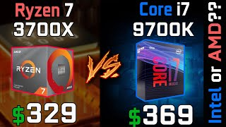 INTEL I7 9700K vs AMD R7 3700X (GIGABYTE RTX 2070 SUPER