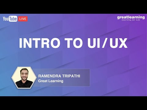 Intro to UI/UX | UX design | UI design | |Great Learning - YouTube